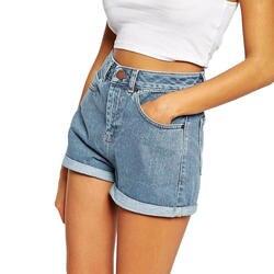 Bonjean Европа синий обжима Джинсовые шорты для Для женщин 2019 новые летние брендовые Мода тонкий Повседневное плюс Размеры Для женщин s Шорты с
