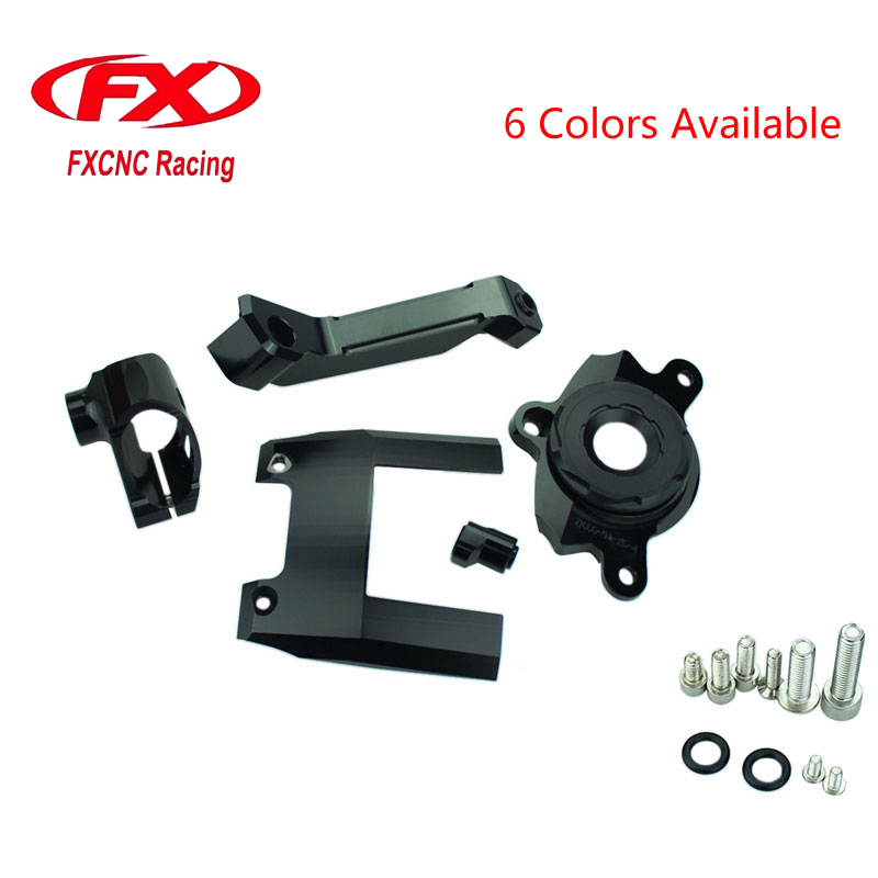 FX Adjustable Motorcycle Steering Stabilize Damper Bracket Mount kit For Kawasaki Z1000 2016-2017 Moto Support Kit серьги sokolov 6027004 s