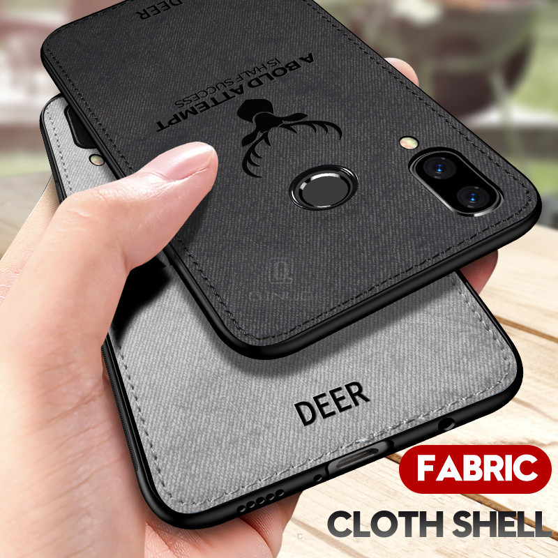 Batman Cloth Textile Phone Case For Huawei Mate 9 10 20 Pro Deer Fabric Cover For Huawei P10 Plus P20 P30 Lite Pro Capa