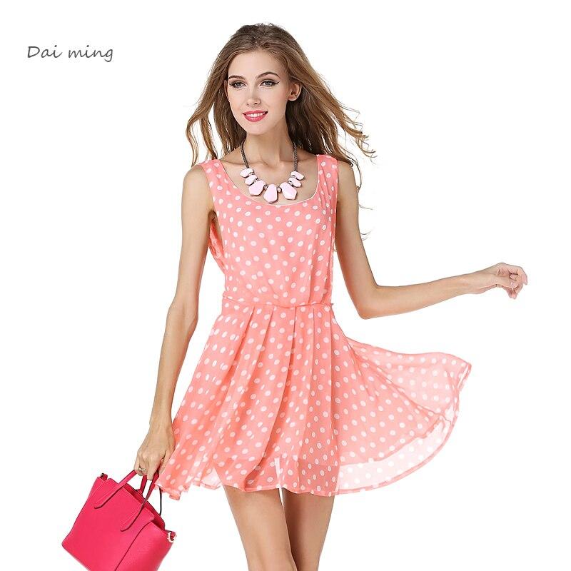 Dress Sexy Party Dresses Vestidos Vestido Curto Summer Pink De Festa Women Beautiful Cheap Robe Femme Backless Sleeveless Dots