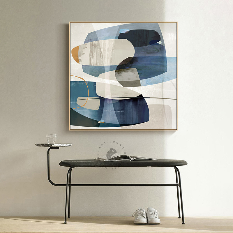 Aliexpress.com : Buy Abstract Blue Tone Canvas Posters