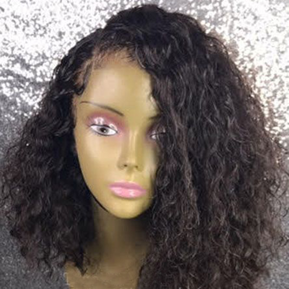 180 Density Brazilian Curly Lace Front Wigs For Women Remy Human Hair Glueless Lace Wig Pre-Plucked Hairline Favor Short BoB Wig