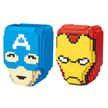 Avengers Super Heroes Building Blocks Compatible With Legoinglys Marvel Toys For Kid Iron Man Captain America Pen Holder Toy compatible legoinglys mk42 armor mechs mark iron man marvel super heros avengers bricks assemble building blocks collection toys