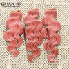New Summer Style Brazilian Human Hair Pink 2/3/4pcs/lot Get a Free 13*4 Lace Frontal Closure to Match your Bundle
