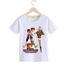 Kids Summer Cartoon Hotel Transylvania 3 Print Tees Tops Costume Children Shorts Clothing Boys T-shirt Girls Tshirt Baby TX115