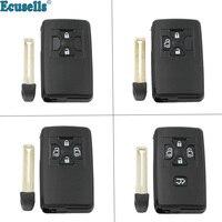 2/3/4/5 버튼 원격 키 쉘 케이스 TOYOTA Noah Estima Previa Corolla Axio Allion Vios Corolla 인서트 키 포함
