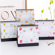 Coloffice Creative 2019 New Year Desk Calendar Fresh Simple Desktop decoration Calendar Office&School Supplies 15.5*15.5*7cm 1PC
