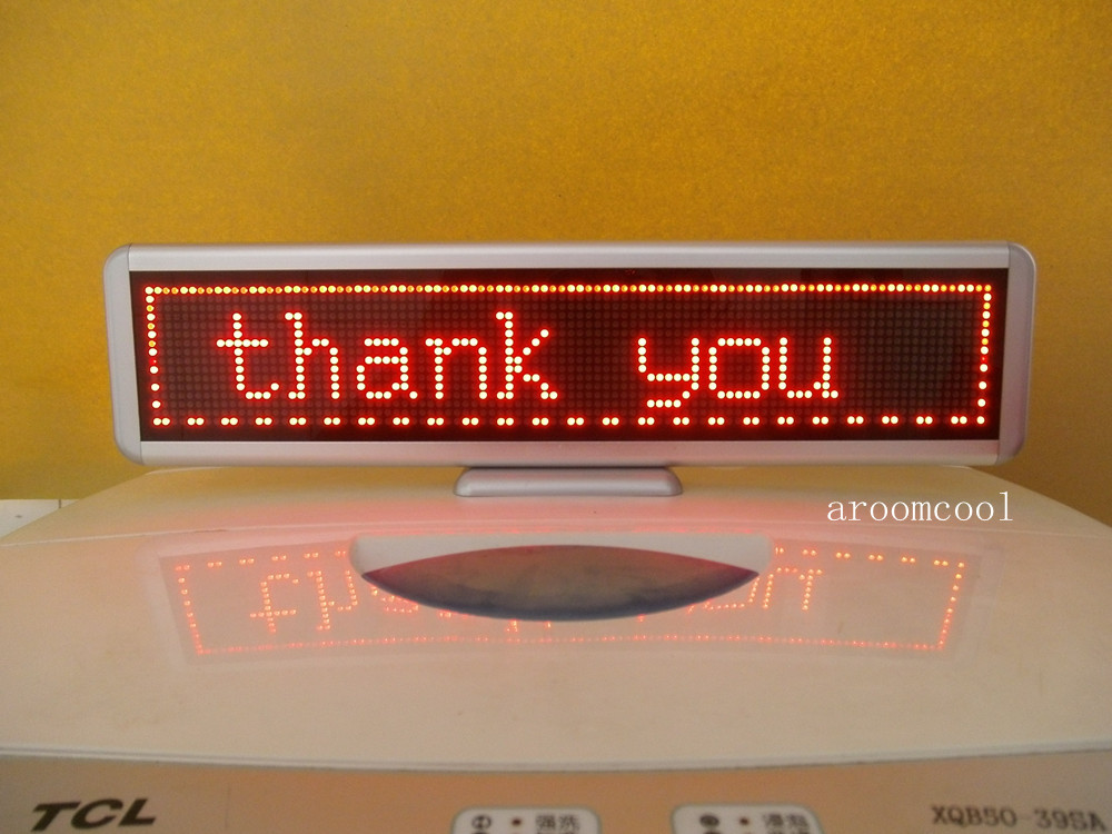 16.5x4 LED Message Scrolling Display Board Programmable Red color 16.5x4 programmable led digital scrolling message name tag id badge 11 44 pixels