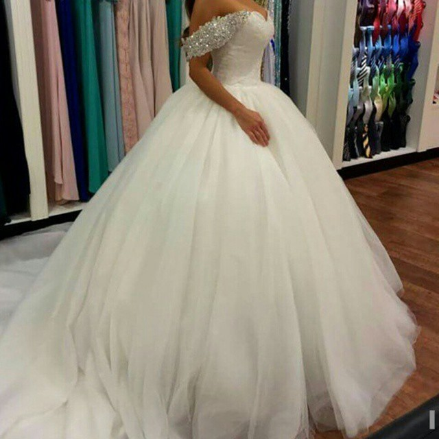 Romantic Sweetheart Beads Sequins Puffy Skirt Ball bridal Gown 2018 Vestido De Noiva robe de mariee mother of the bride dresses in Mother of the Bride Dresses from Weddings Events