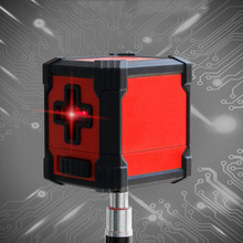 2-Line Red Laser Level Automatic Leveling (4 Degrees) Horizontal And Vertical Cross Line Waterproof