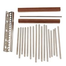 Professional Steel Keys with Saddle Bridge for Kalimba Mbira DIY Kit 17 Key Musical Instruments Parts Accessories