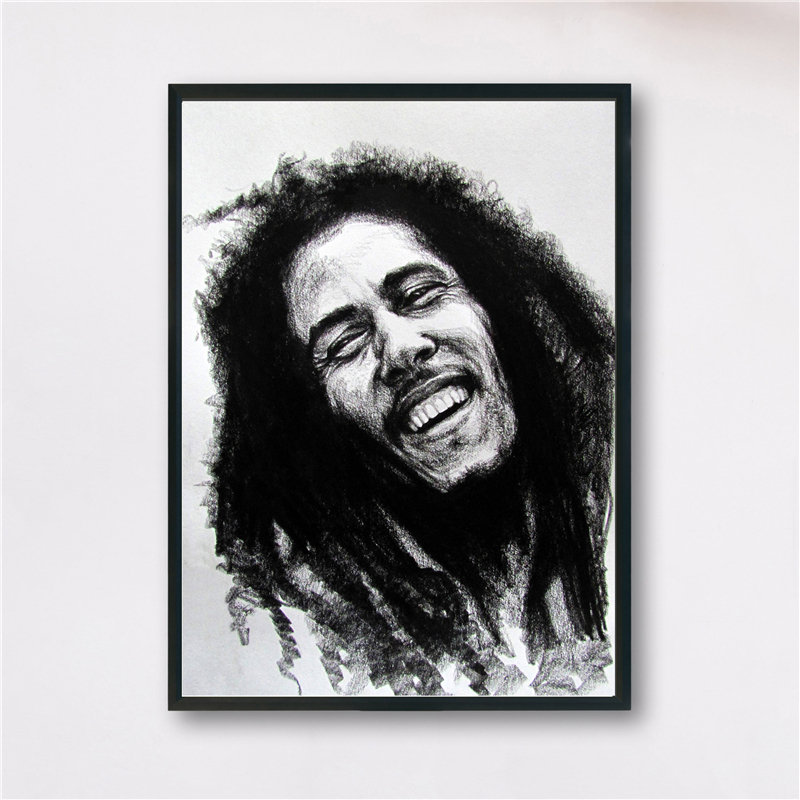 Reggae Bob Marley Black White Wallpaper Canvas Painting Print Bedroom Home Decor Modern Wall Art Oil Painting Poster Framework Painting Calligraphy Aliexpress