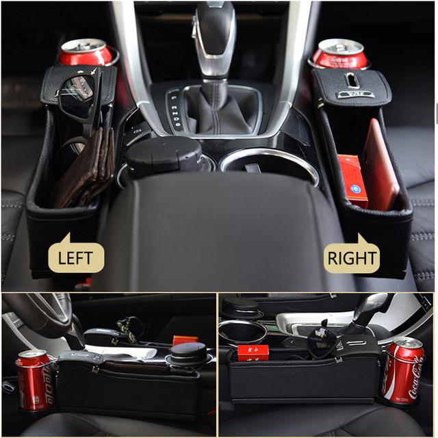 Car Seat Crevice Storage Box Cup Drink Holder Organizer