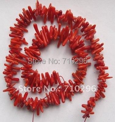 10strands/лот Красное море бамбук Коралл Бусины 3*9 мм чип камень красного коралла Бусины 40 см /strand \