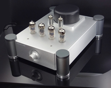 Finished DIY HIFI  tube preamplifier 12AU7*2 +12AX7*2+ 6Z2 tubes amp base on Hetian Ma's tube preamp цена