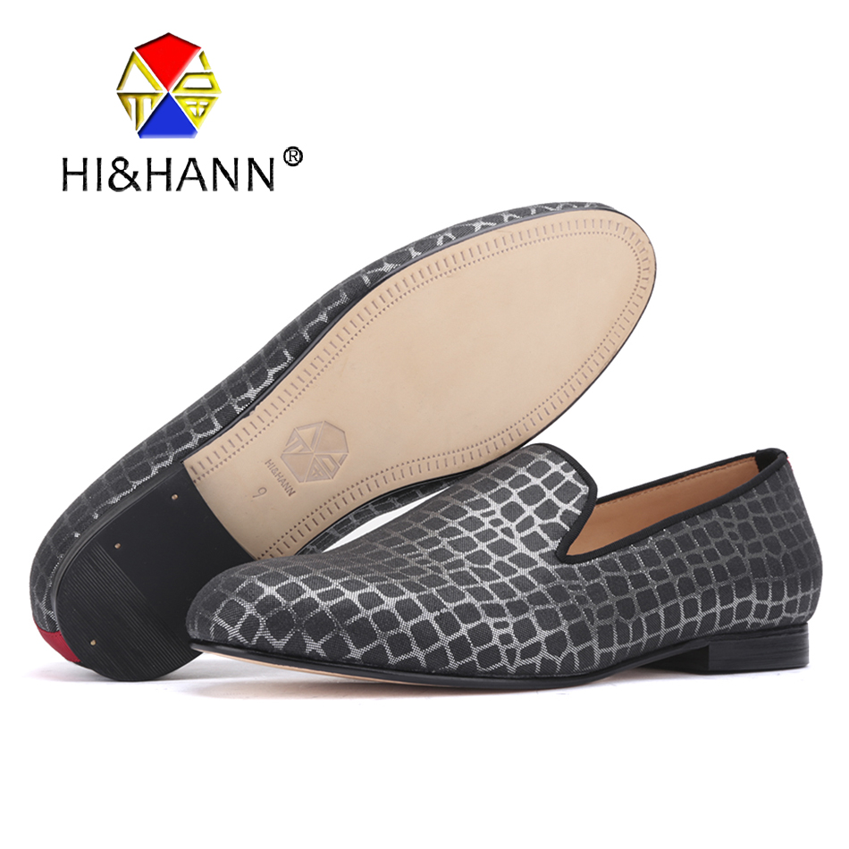 2017 luxurious Men handmade Genuinde insole and bottom shoes with Checkered printing Wedding and Party men loafers male's flats
