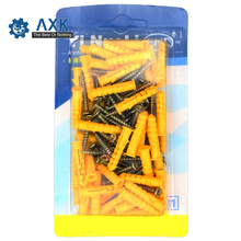 Plastic Expansion Tube Pipe Self Tapping Wall Anchors Drilling Woodworking Plugs Plastic Expansion With Metal Screw kit 20 pcs m4 38mm hot sale m4 x 38mm heavy duty metal plasterboard cavity wall fixings anchors plugs expansion bolt