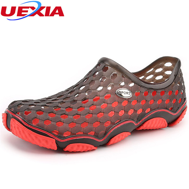 UEXIA Garden Outdoor Men Sandals Casual Shoes Summer Slip On Plastic Water Fashion Beach Fast Sapatos Hembre Sapatenis Masculino