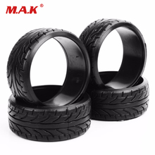 1:10 Scale 4Pcs Rubber Flat Drift Tires Flat Racing Drift Tires 4Pcs Set RC On- Road Tyre For HPI Car HSP PP0292 цена в Москве и Питере