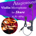 Top Quality Violin Microphone Mandolin Viola Mic for Shure Wireless System Instrument Condenser Microfone Dedicated Voice Pickup