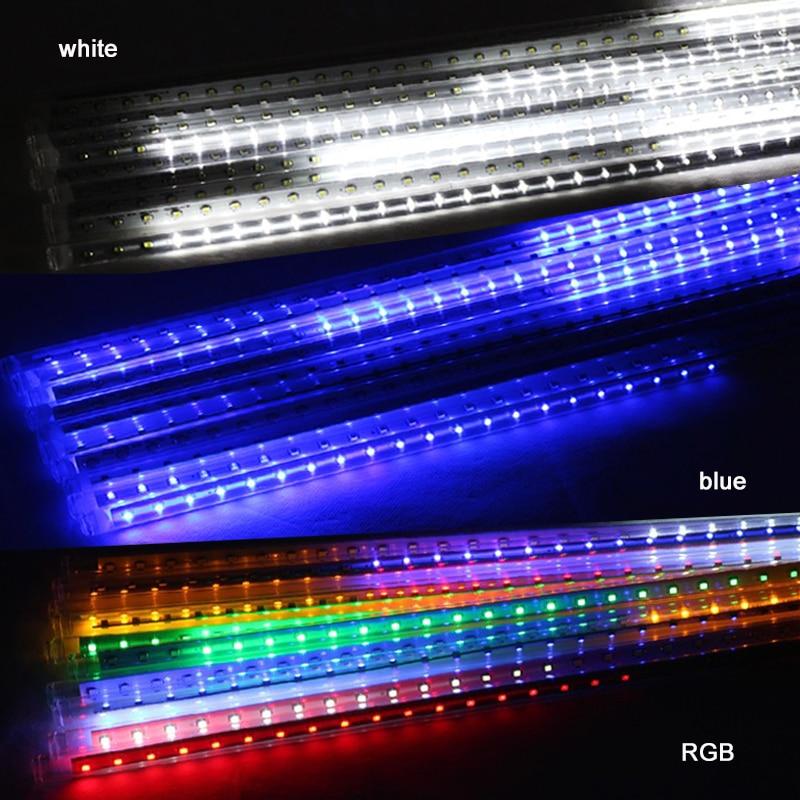 Vattentät LED jullampor 10st / set SMD3528 Snöfallrör 50cm Meteor - Festlig belysning - Foto 5