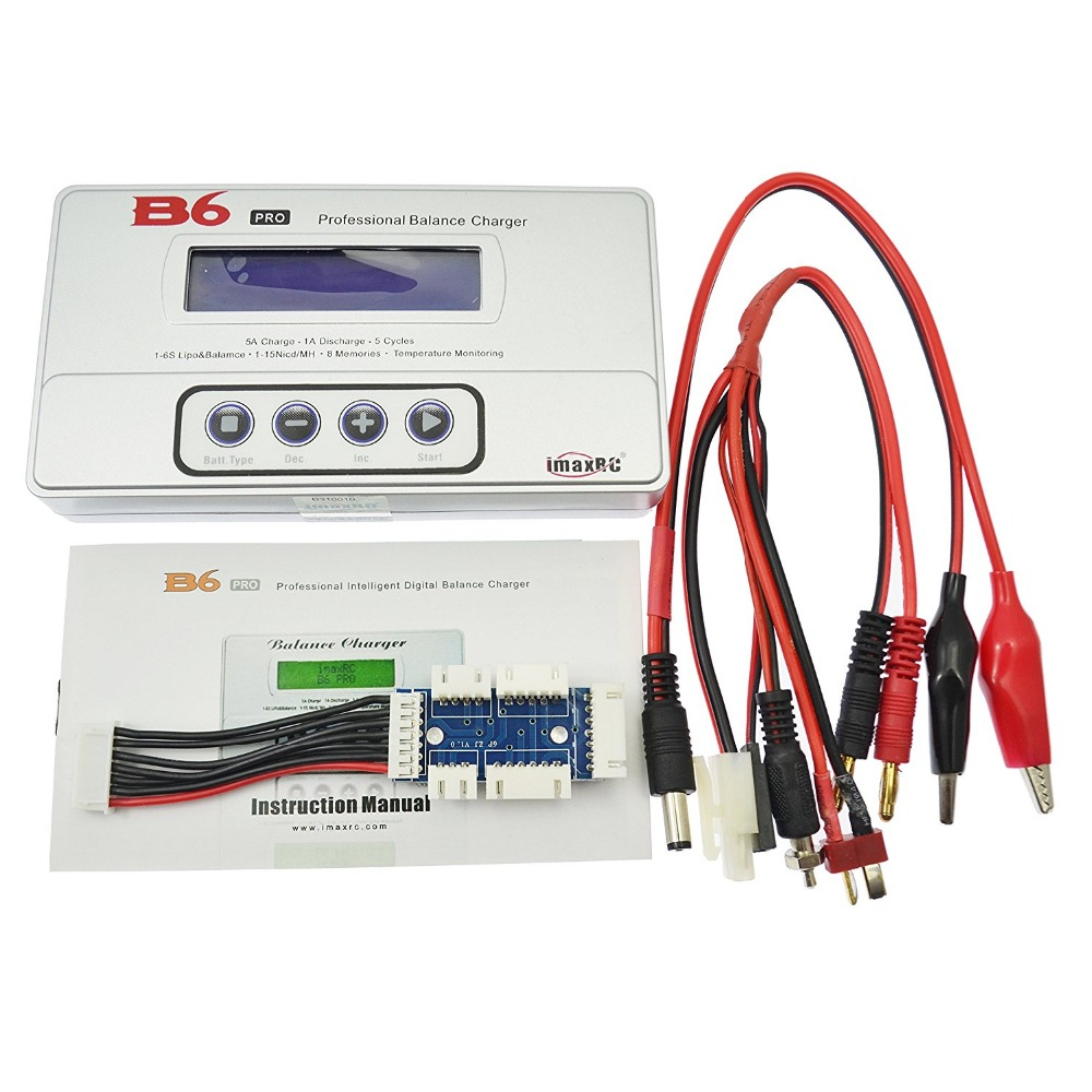 iMaxRC B6 Pro 50W LiFe Lion NiCd NiMh LiPo(2-6s) Battery Balanced charger Discharger 3in1 li po lipo battery 2 6s lcd balancer voltage tester discharger protect