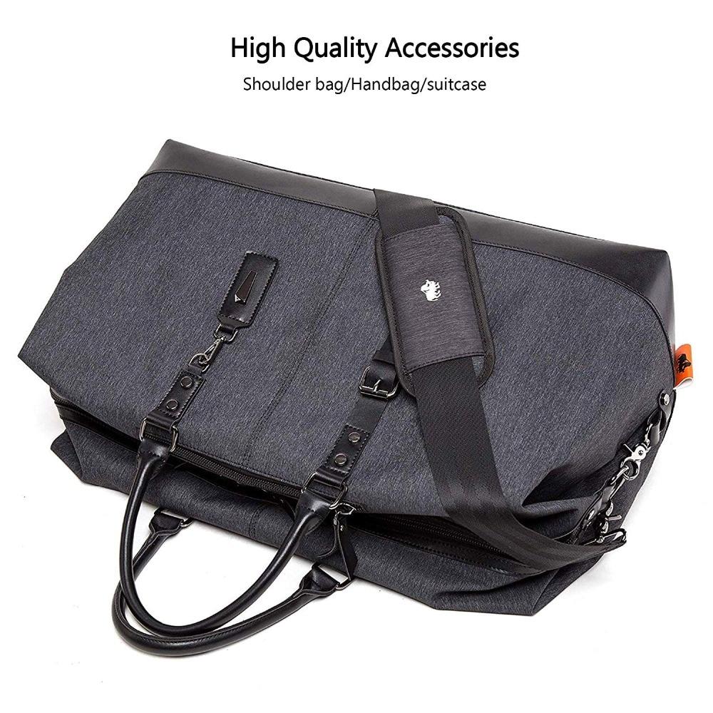 BISON DENIM Travel Bag Large Capacity Men Hand Luggage Travel Duffle Bags Nylon Weekend Bags Multifunctional Travel Bags N5091