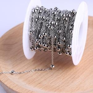 Image 1 - Onwear 10 metre/rulo paslanmaz çelik top boncuklu kolye tespih zincir takı yapımı için diy aksesuarları