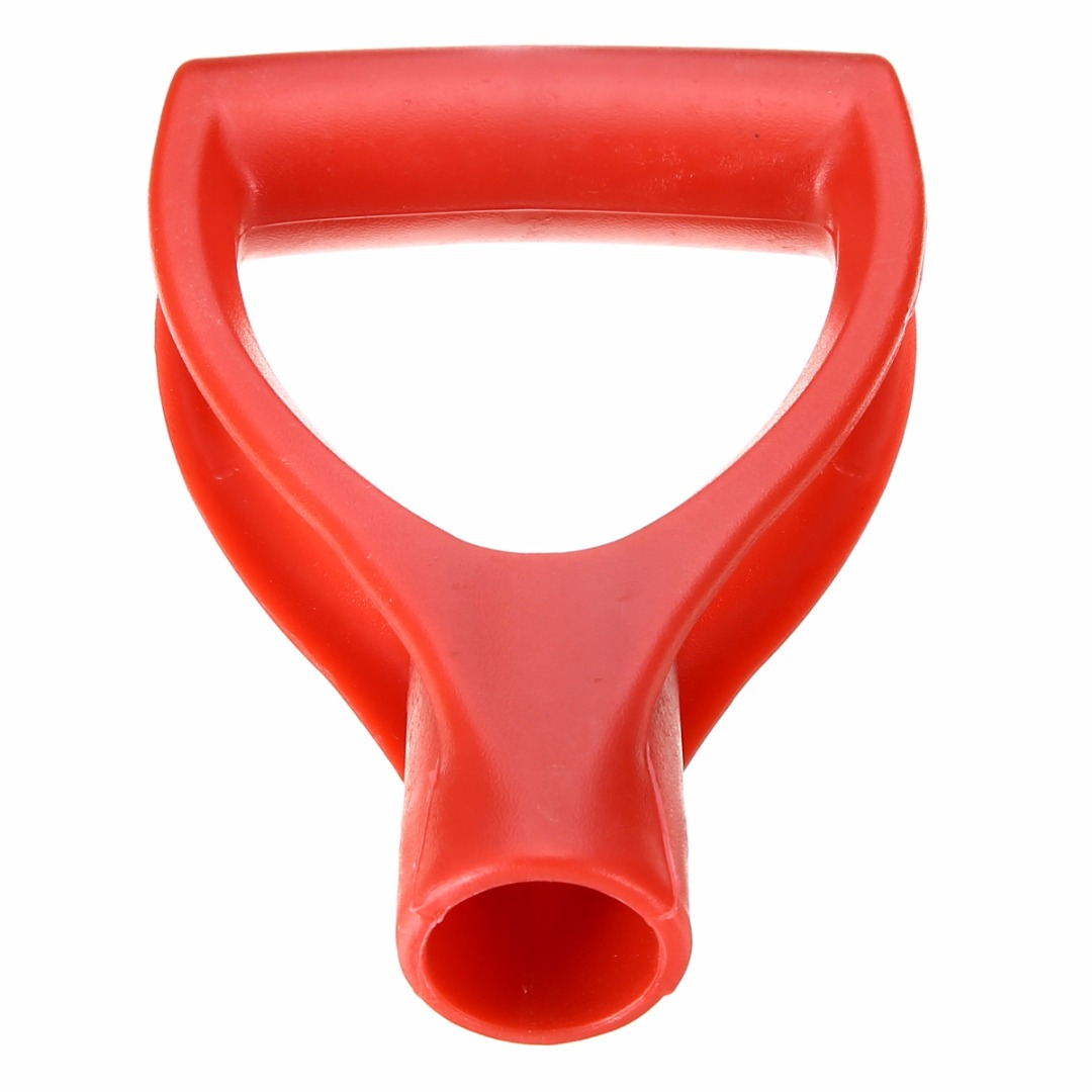 Red Plastic Handle Shovel Replacement D-Grip Handle For Spade Fork Shovel 32mm