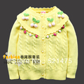 New Arrival High Quality Fashion Autumn -Summer Children's Sweater Fall 2013 Baby Sweater Cardigan For Girls Wool Girls Clothes