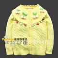 Nueva llegada de la alta calidad moda otoño verano de los niños del suéter de otoño 2013 bebé suéter Cardigan para las niñas niñas de lana ropa