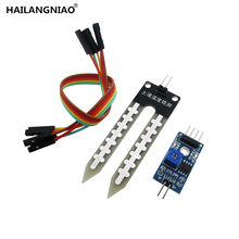 1pcs/lot soil the hygrometer detection module robot intelligent car soil moisture sensor(China)