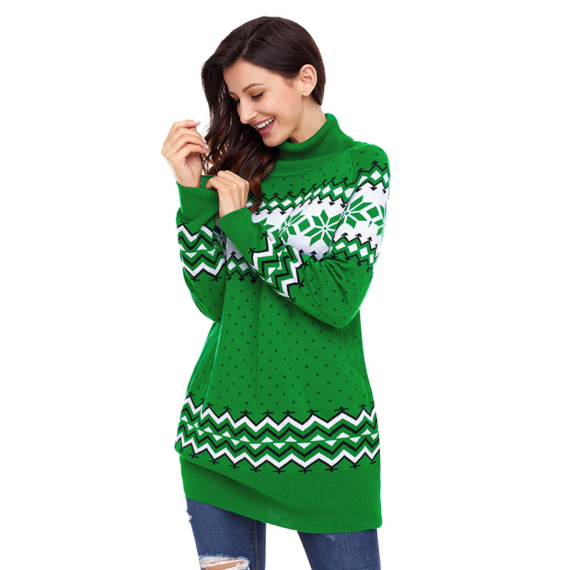 Green-Christmas-Snowflake-Knit-Turtleneck-Jumper-LC27807-9-4