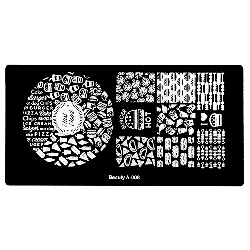 Nail Art Stamp Stamping Image Plate Rectangle Stainless Steel Nail ...