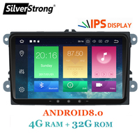 SilverStrong IPS Android8.0 8.0 for VW 2Din Car Radio for Passat B6 B7 Golf5 6 Jetta Tiguan for Skoda Octavia2 superb fabia 901