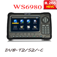 satlink 6980 hevc h.265 7 Inch HD LCD WS6980 ws 6980 DVB S2/C DVB T2 Optical detection Spectrum satellite finder satlink WS 6980