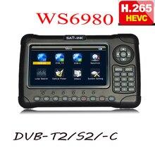 Satlink 6980 hevc h.265 7 дюймов HD lcd WS6980 ws-6980 DVB-S2/C DVB-T2 оптическое Обнаружение спектра спутниковый искатель Satlink WS 6980