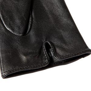Image 3 - Boutique pour acheter les meilleurs gants féminins, cuir véritable, adulte, coton doublé, élégant gants en cuir noir barre de couleur, gants en cuir