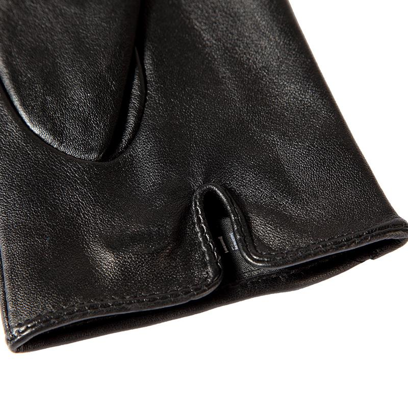 Image 3 - Shop to buy best Female gloves,Genuine Leather,Adult,Cotton Lined,Stylish black leather gloves color bar,Leather gloves-in Women's Gloves from Apparel Accessories