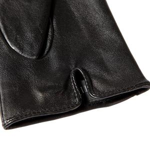 Image 3 - Shop to buy best Female gloves,Genuine Leather,Adult,Cotton Lined,Stylish black leather gloves color bar,Leather gloves