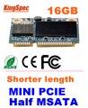 L Kingspec МИНИ PCIE Половинной ВЫСОТЫ mSATA SATA III SATA II SSD Модуль MLC 16 ГБ Для Планшетных ПК ЖЕСТКИЙ ДИСК, CE FCC ROHS бесплатная доставка