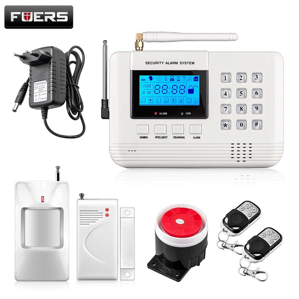 imágenes para PSTN GSM inalámbrico Sistema de Alarma para el Hogar Oficina Casa Ladrón de la Seguridad de Seguridad Español/Ruso/Inglés Voz