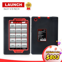 LAUNCH X431 V 8 Inch Global Version Auto OBD2 Full System Diagnostic Scanner 2 Years Free