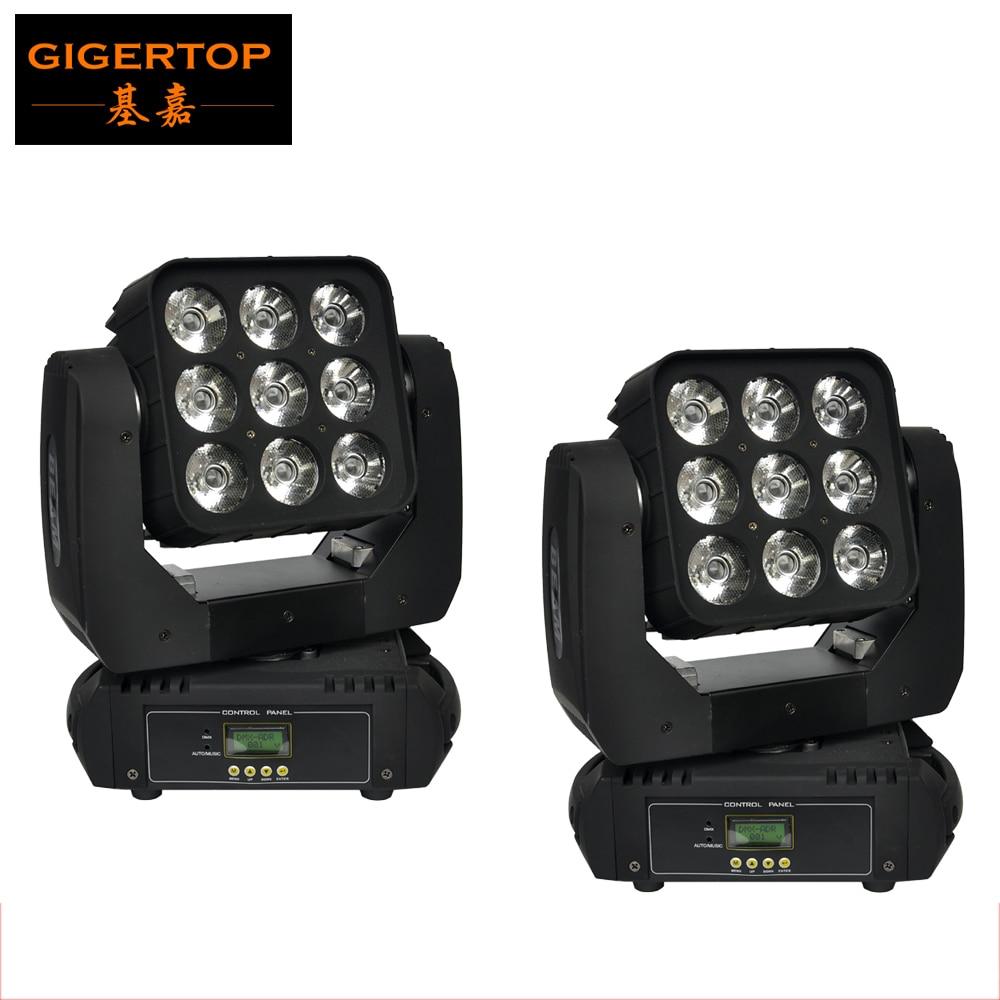 By Fedex 2pcs/lot Mini Led Matrix Moving Head 9*10W 4in1 Led Moving Head Beam RGBW Led Moving Head Beam DMX Control TIPTOP light 2 0 12 9 matrix 11227