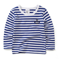 Children's clothing top quality boys long-sleeve T-shirts striped autumn baby  tops girls basic shirt for 2-8 years old