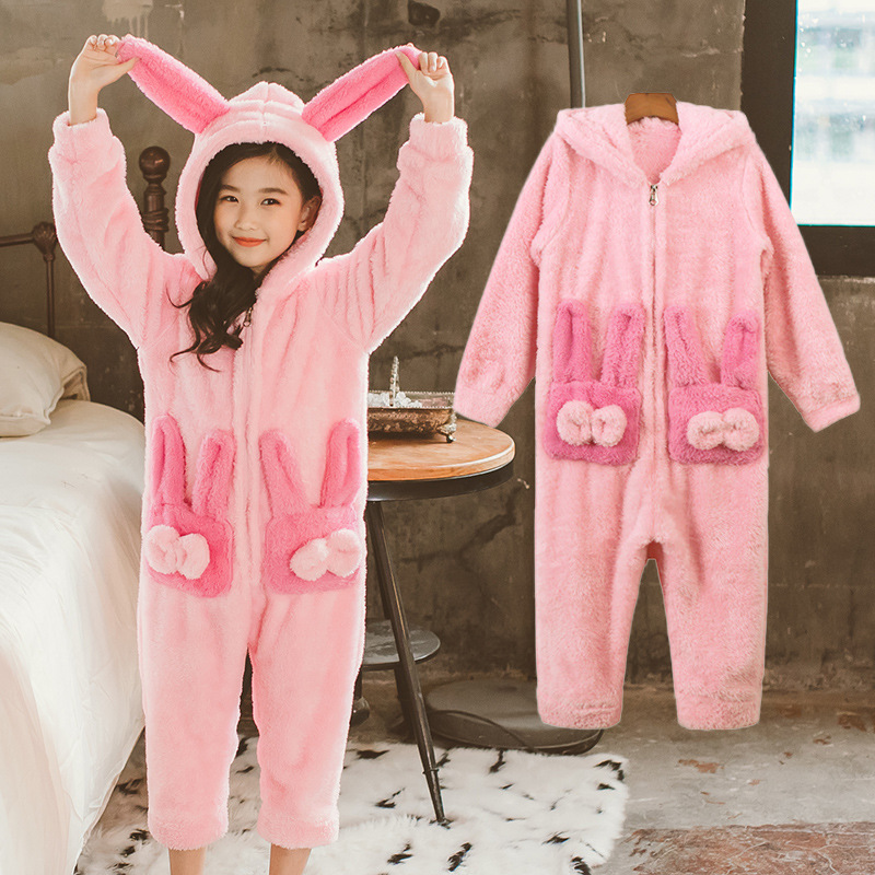 Gros filles Pyjamas point enfants Pyjamas ensemble flanelle enfants pyjama Animal dessin animé Cosplay Pijama Infantil Pyjamas de noël