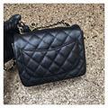 2017 Famous Brand Women Genuine Leather Handbag Original Quality Classic Flap Bag Micro Bag Chain Plaid Bag Caviar 17cm 11 Color