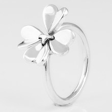c5859e73a Authentic 925 Sterling Silver Ring Moving Clover Flower Lucky In Love Rings  For Women Wedding Party Gift Fine Pandora Jewelry