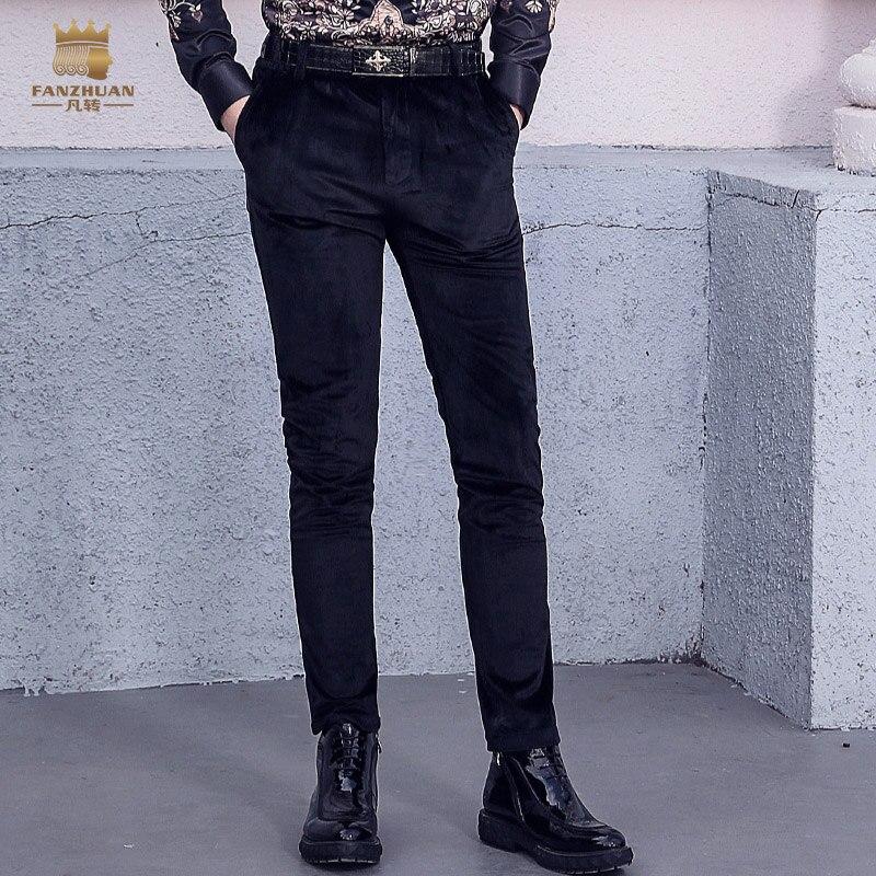 FanZhuan livraison gratuite nouveau 2017 homme homme slim mode décontracté skinny pantalon hommes en daim pantalon hiver britannique 718229-in Maigre Pantalon from Vêtements homme on AliExpress - 11.11_Double 11_Singles' Day 1