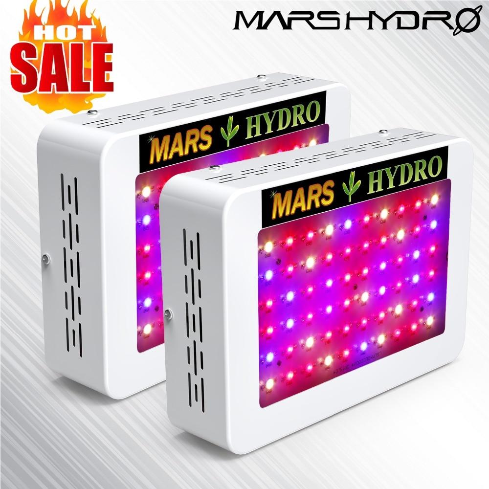 2 pcs MarsHydro 300 W/600 W spettro completo LED Luci a intensità di Coltura Idroponica Pannello per Giardino Interno